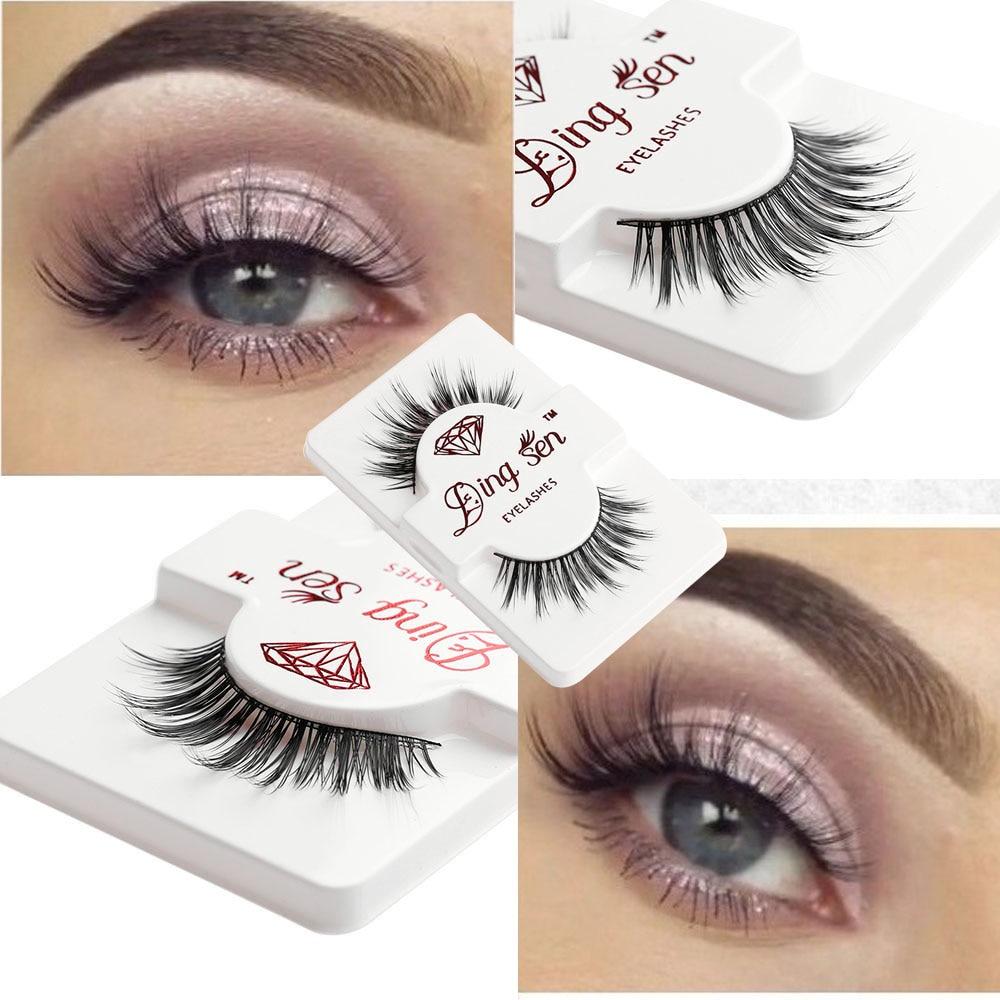 1 Pair 100% Real Mink Hair False Eyelashes Handmade Long Thick Fake Eyelashes Extension Cosmetic Beauty Tools