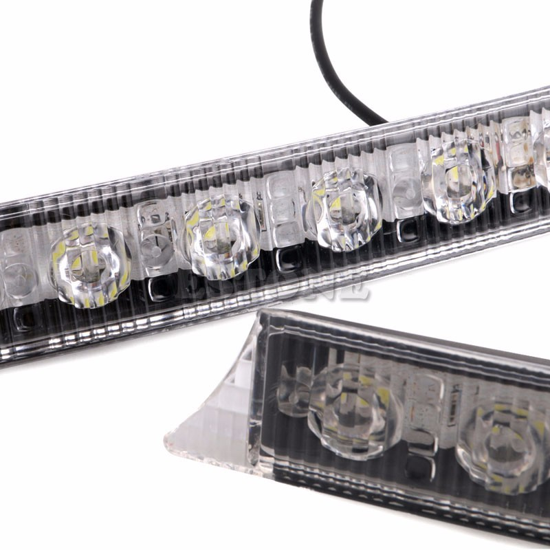 Auto LED Lights 2x 9LEDs Daylight Daytime Running Driving DRL LED Light Yellow Turn Signals Car Exterior Light Bulbs 6