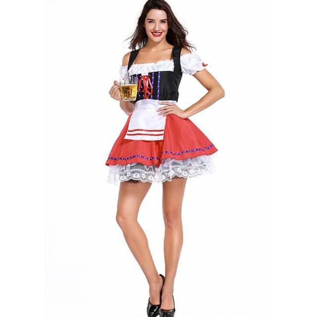 K417 Deluxe Oktoberfest Beer Maid Dress Up Heidi Costume Bavarian German Dirndl