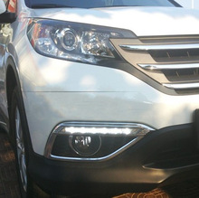 for 12year Honda CRV special day light front fog modification upgrade LED driving