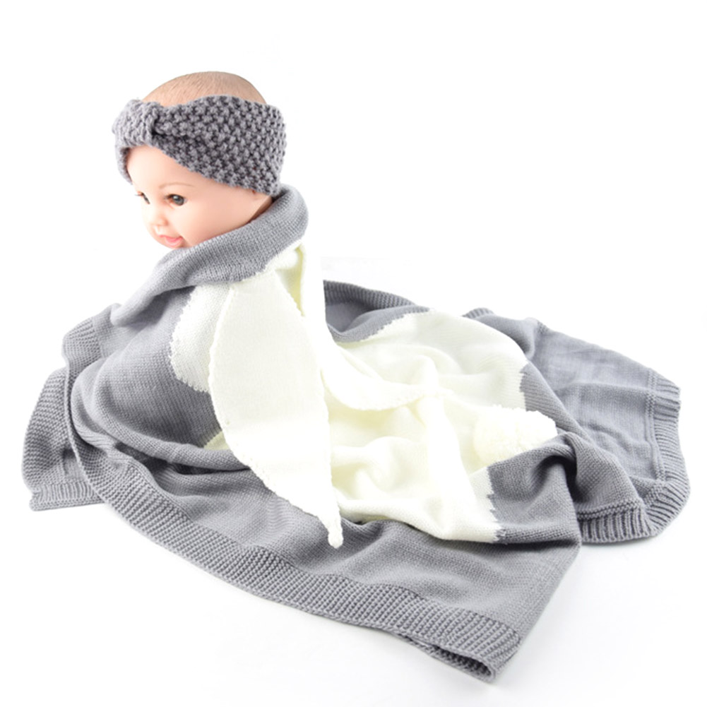 Baby Bedding Official Website 4 Colors Baby Toddler Bedding Knitted Baby Blanket Wrap Soft Blankets Newborn Big Rabbit Ear Swaddling Kids Gift Girls Blankets Blanket & Swaddling