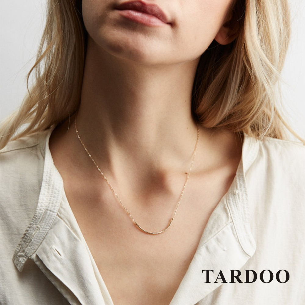 Tardoo Gold Arc-shaped Pendant Necklace 925 Silver Simple Classic Silver Pendant Necklace Women Fine Jewelry Geometry Necklace tardoo crossed double circle necklace 925 silver simple double circle gold necklace women fine jewelry hoop pendant necklace