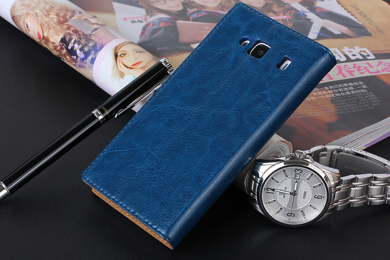 For Xiaomi RedMi 2 Redrice 2 Genuine Leather Wallet Stand Flip With Card Holder Mobile Phone Skin Case Cover