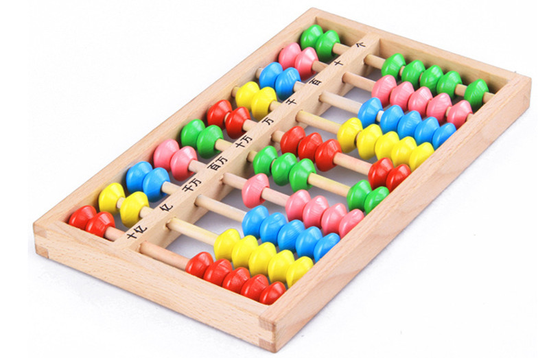New Wooden Toy Small Size Montessori Baby Toy Beech Abacus ...