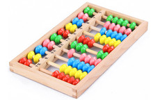 New Wooden Toy Small Size Montessori Baby Beech Abacus Teaching Learning Educational Preschool Training Free Shipping