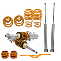 For VW POLO 9N 9N3 (02 09) COILOVERS ADJUSTABLE SUSPENSION LOWERING SPRINGS KIT for Voyage Mk2 08 present Coilover Suspension