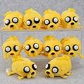 "5pcs/lot Jake Finn Beemo BMO Penguin Ice king Cell Phone Strap Adventure time Plush Toys Stuffed Soft Doll 4"" Free Shipping"