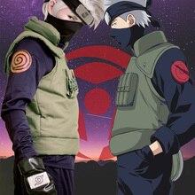 Anime Naruto Hatake Kakashi Cosplay Kostuum Halloween Kleding Vest Shirt Broek Handschoenen Masker Hoofdband 6 Stuks Set Custom Made Maat