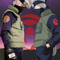 Anime Naruto Hatake Kakashi Cosplay Costume Halloween Clothes vest shirt pants mask glove headband 7PCS set custom made size