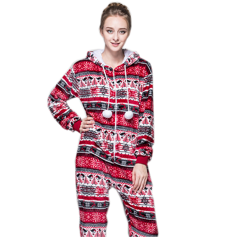 Christmas Pajama Onesies.Us 26 39 20 Off Women Christmas Pajamas Onesie Red Pink Pijamas Selling Best In Chinese Market Online For Teenagers Lady Adults On Aliexpress Com