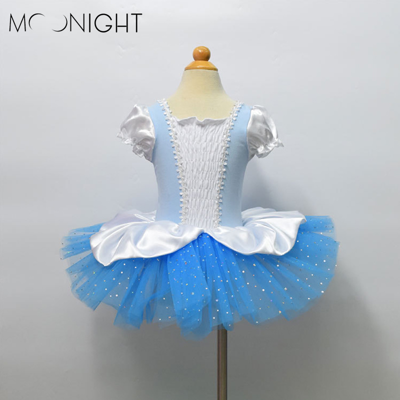 MOONIGHT Children dance Tulle Dress Girl Ballet Dress Performance Leotard Costume Baby Girls TUTU Dress Crochet Tube Top Baby