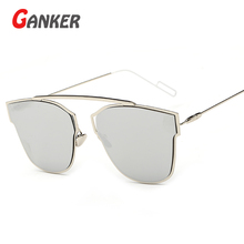 2016 New Women Cat Eye Sunglasses Metal Frame Anti-Reflective UV400 Sun Glasses Brand Designer Eyewear Gafas De Sol Feminino