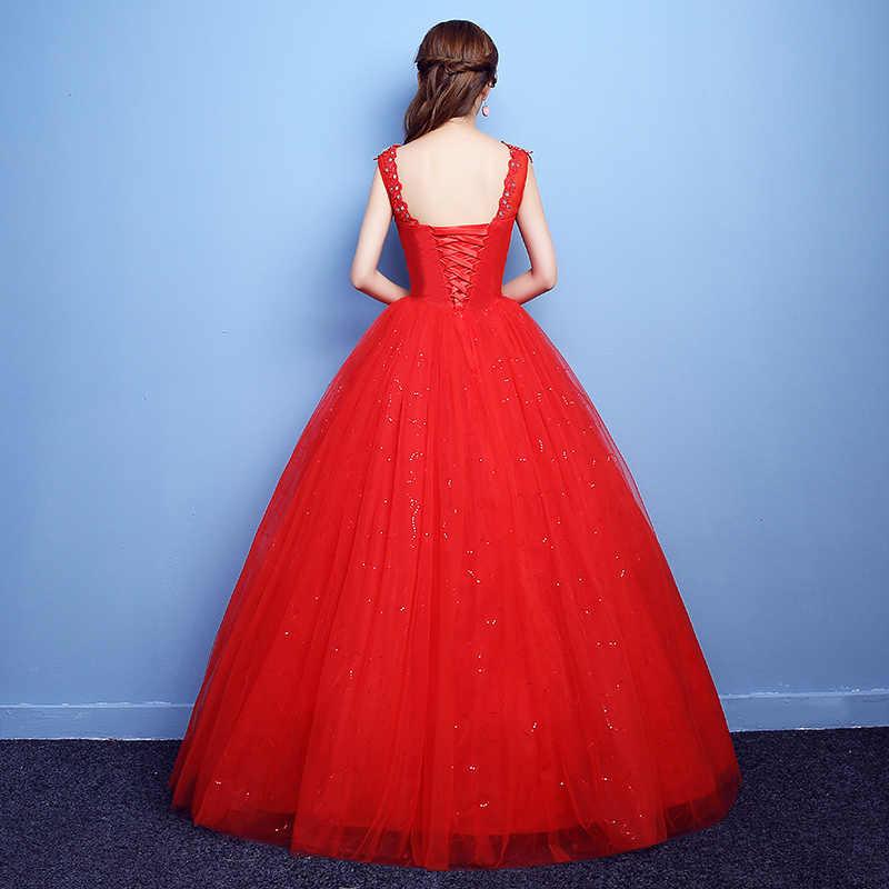 YC-H83H # כדור שמלת תחרה עד בתוספת גודל בהריון אישה שרף תרגיל שמלות ארוך כלה של חתונה שמלת אדום לבן 2019 זול סיטונאי