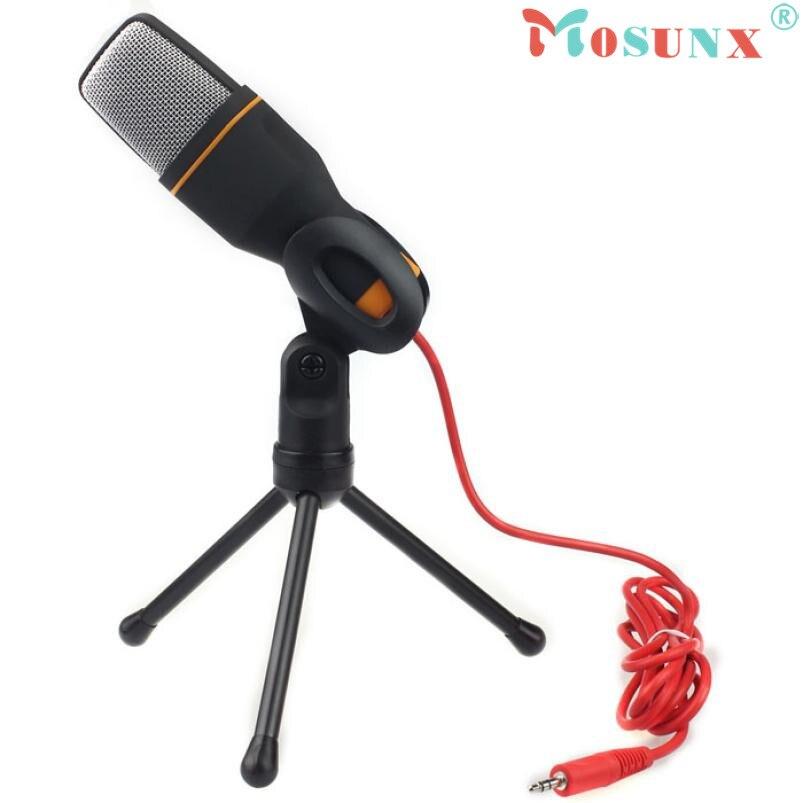 Adroit Qualité Marque Condenseur À Son Studio Microphone Mic Pour Chat PC Portable Pour Skype Pour MSN BK Microfoon FEB3 baisse gratuite