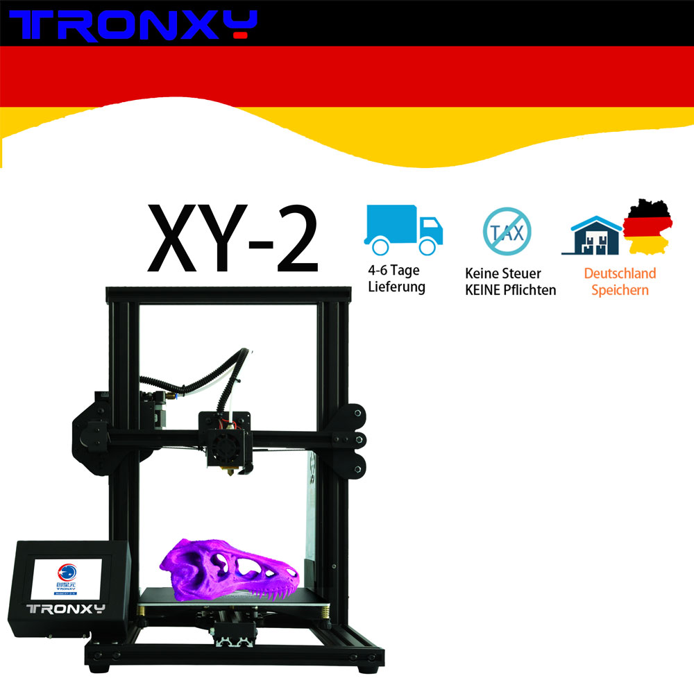 2019 Newest Tronxy XY-2 3D Printer 4020 Aluminium Profile 3.5 Inches Full Color Touch Screen with hotbed image