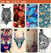 3D DIY Colored Flower Animals Towers Printed Design Phone Case For Umi Z /UMI Z Pro Pattern case cover for Umi Z back phone case