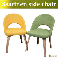 Free shipping U-BEST mid century replica Eero Saarinen executive armless side dining chair with plywood wood legs