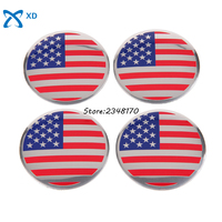 For USA American Flag Logo Arc Surface Hub Caps 56 5mm Wheel Center Sticker Emblem Badge