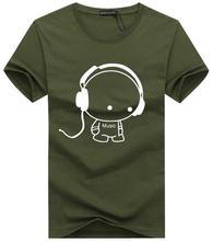 New Casual Music Cartoon Short Sleeve T-Shirt