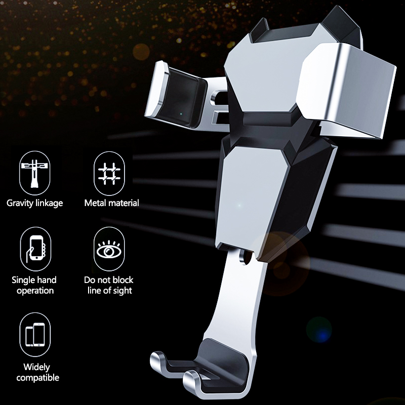 Universal Gravity Car Holder For iPhone XS Max X In Car Air Vent Mount Cradle GPS Mobile Phone Holder Stand For Samsung/Huawei
