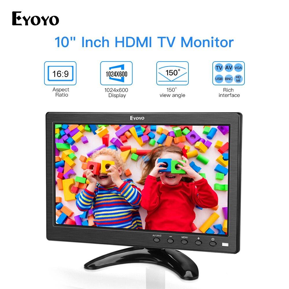 Eyoyo 10 pouces petit moniteur de télévision HDMI Portable cuisine TV 1024x600 écran LCD avec télécommande pour DVD CCTV caméra Raspberry Pi