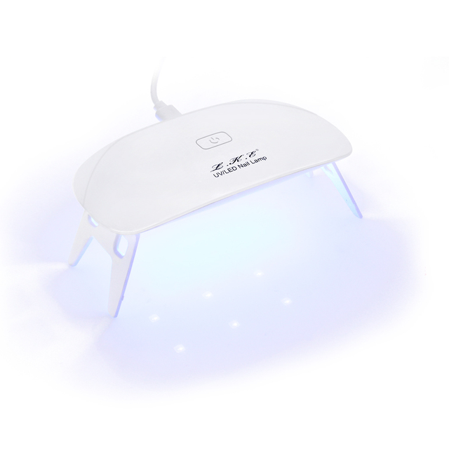 LKE 12W Mini Nail Lamp 6 Light LED Nail Art Manicure Portable nail lamp Support USB Charger Cure UV LED Nail for Lamp