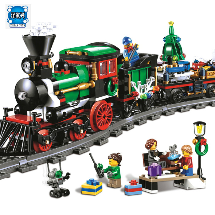 Lepin 36001 Creative Series The Christmas Winter Holiday Train Set Children Educational Building Blocks Bricks Figures Toy 10254 dhl lepin 36001 winter holiday train 36011 winter village train educational building blocks toys gifts clone with 10254 10259