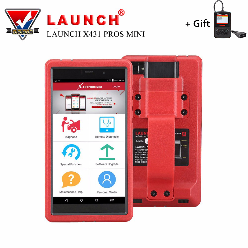 Launch X431 PROS Mini Automotive Diagnostic Tool OBD2 Scanner Code Reader with Wifi & Bluetooth Covering 108 Vehicle Makes launch x431 obd2 automotive diagnostic scanner obd2 bluetooth adpater mdiag elm327 update online enhanced code reader