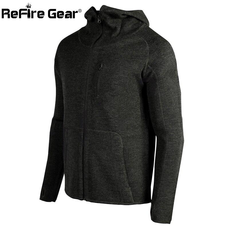 Erkek Kıyafeti'ten Ceketler'de ReFire Dişli Praetorian Yün Hoodie Ordu Taktik Ceket Erkekler Sonbahar Yün Askeri Ceket günlük kıyafetler Adam Sıcak Hırka Ceket'da  Grup 1