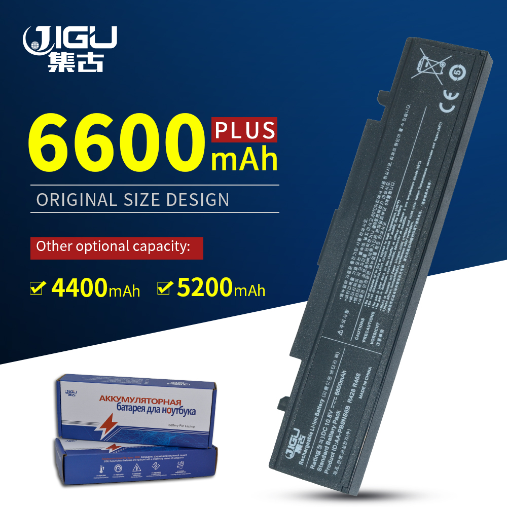 JIGU batería para Samsung R700 R710 AA-PB9NC6B AA-PB9NS6B batería para Samsung R519 R525 R528 R540 R581 R590 RV513 RV511 RC520