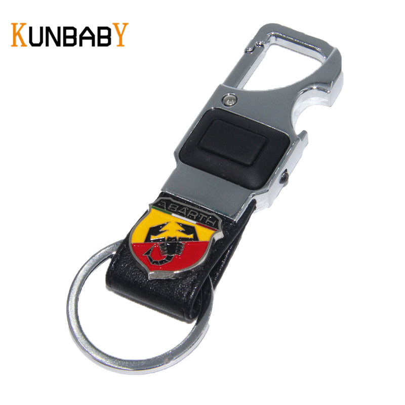 Kunbaby Car Accessories Leather Car Key Chain Metal Keyring Key Ring For Fiat Abarth 500 Punto Stilo Freemont Car Key Holder Do You Want To Buy Some Chinese Native Produce? Interior Accessories Key Rings