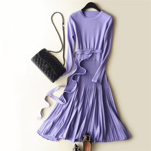 Для женщин Платья для женщин Кашемир Вязание трикотаж Лидер продаж больше платье дамы ONeck зимой и весной Топы корректирующие Пуловеры для женщин Шерстяная трикотажная одежда