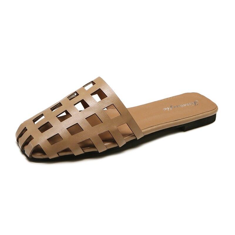 2018 модные женские туфли вне тапочки слипоны пляжная обувь Повседневные шлепки на плоской подошве женский Комнатные шлепанцы