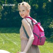 Insular free ship Solid Fashion Backpack Diaper պայուսակներ Անջրանցիկ նեյլոնե մումիա մայրության մորթեղջի պայուսակներ Խնամքի մեծածախ բուժքույրական պայուսակ
