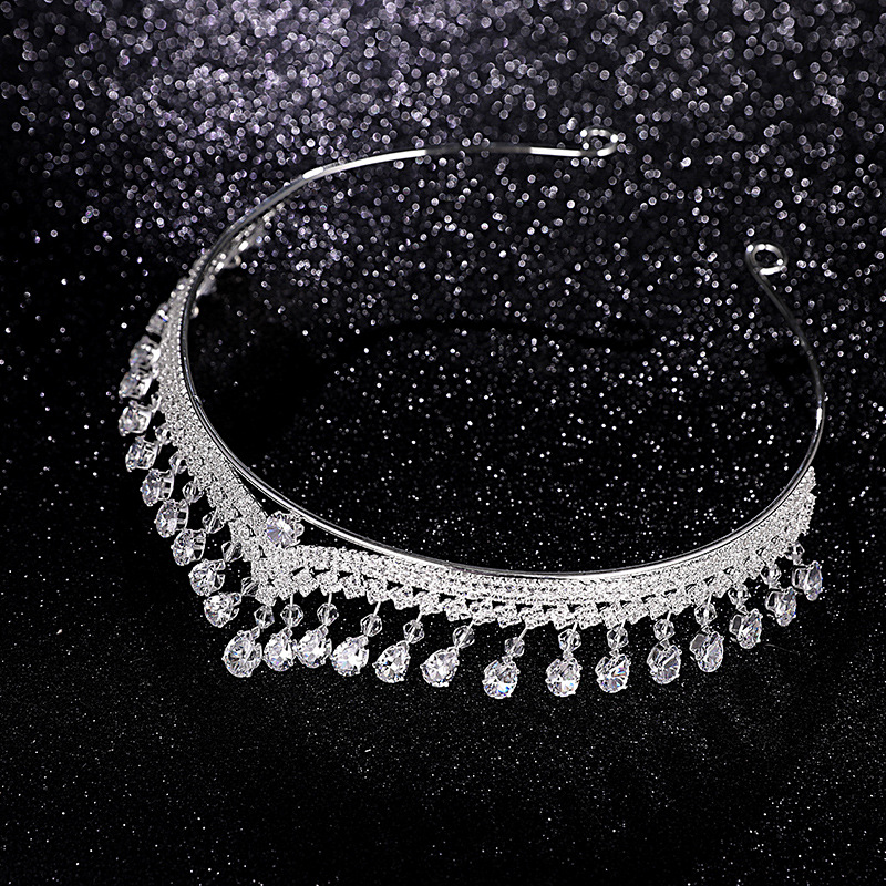 Luxury Silver Crystal Queen Tiaras Crowns Women Wedding Prom Pageant Crown Head Ornaments Bride Jewelry Headband Accessory CR103