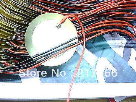 100PCS LOT 35mm Piezo Ceramic Element with cable length free shipping SS 100