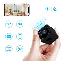 Kruiqi Mini Wifi Camera HD 1080P Home Security Wireless with Cell Phone App Remote Monitor &Playblack Built in Battery IP Camera