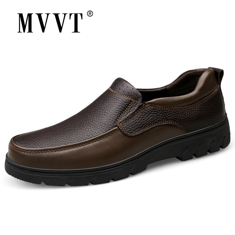 Plus Size 47 Genuine Leather Shoes Men Casual Shoes Slip On Men Loafers Shoes Height Increasing