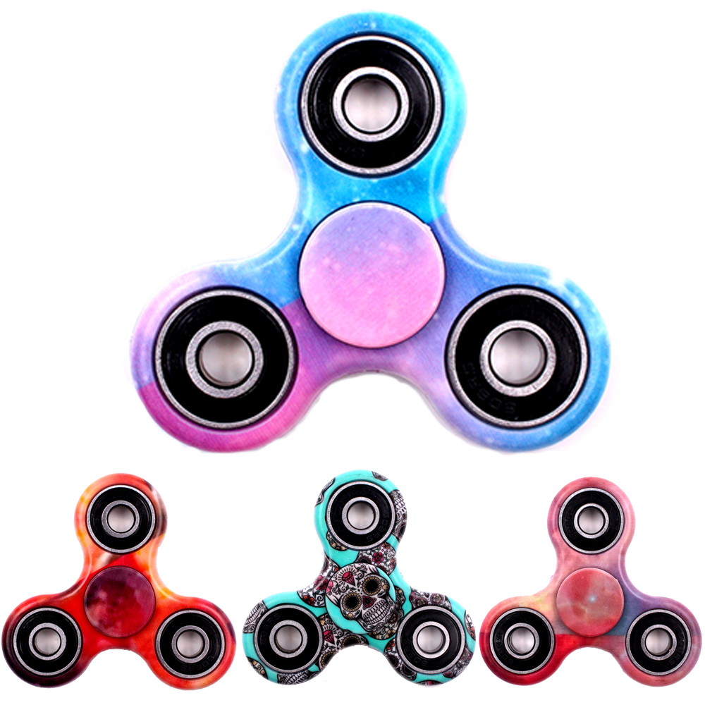 Hot Tri Spinner Fidget Toy Plastic Stress Wheel EDC Anti Stress Hand Spinner For Autism And