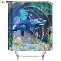 High Quality Animal Pattern Shower Curtains Cartoon Fish Seals Dolphin Elephant Bathroom Curtains Fashion Style Bath