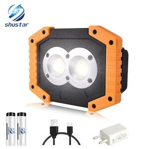 Portable LED Flashlight COB Wo