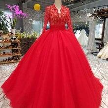 Aijingyu 기차 웨딩 드레스 진짜 가운 샘플 쁘띠 독특한 브라질 빈티지 국가 가운 빈티지 스타일 웨딩 드레스