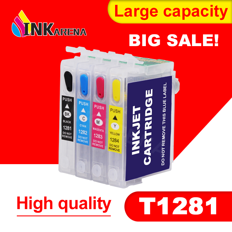 INKARENA T1281 Refillable Ink Cartridge For Epson S22 SX125 SX130 SX235W SX420W