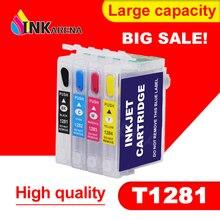 T1281 Refillable патрон чернил для принтера Epson S22 SX125 SX130 SX235W SX420W SX440W SX430W SX425W SX435W SX438 SX445W BX305F SX230