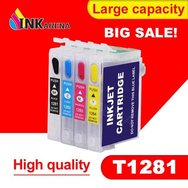 T1281 Refillable דיו מחסנית עבור Epson S22 SX125 SX130 SX235W SX420W SX440W SX430W SX425W SX435W SX438 SX445W BX305F SX230