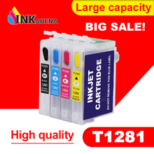 цены T1281 Refillable Ink Cartridge For Epson S22 SX125 SX130 SX235W SX420W SX440W SX430W SX425W SX435W SX438 SX445W BX305F SX230