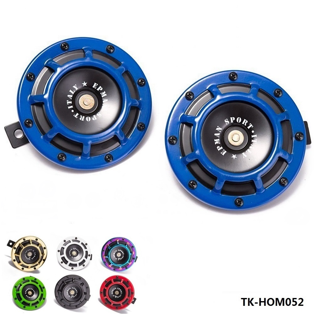 Loud Air Horn Compact for Motorcycle Car Siren Dual Tone Electric Pump auto horn 1pair=2pcs TK-HOM052-AF modified motorcycle accessories refires horn trolley belt oil pump cnc general horn refires