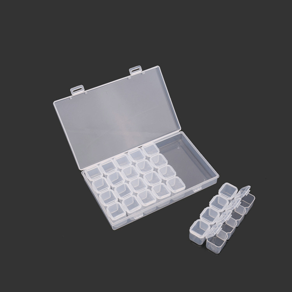 28 small box jewelry box single open mini drill box storage box nail shop used to decorate nail jewelry image