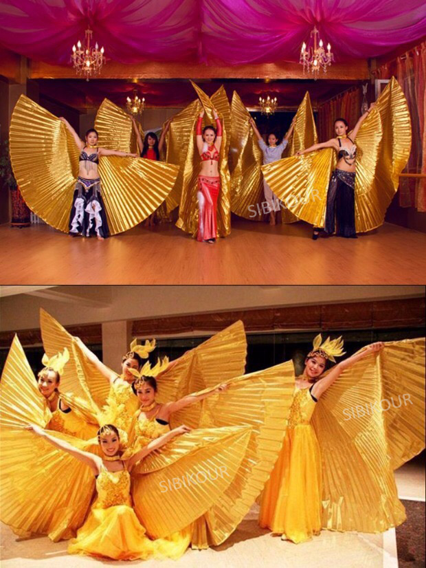 HTB1y35rbL1H3KVjSZFBq6zSMXXaj - Belly Dance Isis Wings Belly Dance Accessory Bollywood Oriental Egypt Egyptian Wings Costume With Sticks Adult Women Gold