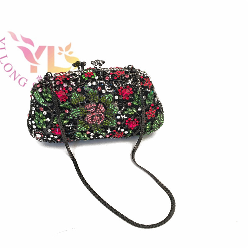 Women Fashion Handmade Rhinestone Bags Event/Party/Clutches Bag Multi Color YLS-F62 event